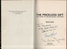 "STEVE LEWIS - ""THE PRICELESS GIFT"" SIGNED BY AUTHOR, DELME THOMAS & TERRY DAVIES"