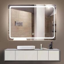 Frameless Electric Wall Mirror Bathroom Bedroom LED Lighted Vanity Makeup Mirror