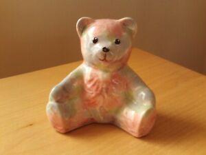 Park Rose Of Bridlington Small Pastel Shades Ceramic Teddy Bear Figurine.