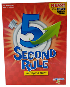 NEW 5 Second Rule Game Play Monster Just Spit it Out! 150+ Fresh Cards Ages 10+