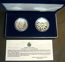 1999 San Marino Lire 5000 + 10000  l' EUROPA del  Domani   Proof   Box Coa