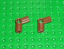 LEGO - TECHNIC - AXLE & PIN CONNECTORS ANGLED #5 BROWN x 4 (32015) TK241