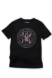 GENUINE Triumph Motorcycles Nixon Union Flag Black Short Sleeve T Shirt