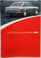 1972-1975 Fiat 124 Sport Coupe 1600/1800 Sales Brochure