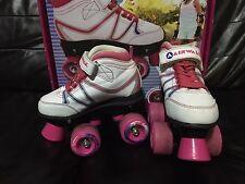 Airwalk Roller Skates, Quad Skates, White and Pink, size 12J