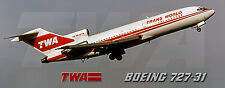 TWA Airlines Boeing 727 Photo Magnet (PMT1596)