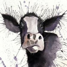 """Cow Large Colourful wall art printed on canvas 22'' X 22"""""""