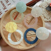 Women Noble Acrylic Hair Clips Barrette Bobby Stick Hairpin Hair Accessories