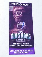 2010 Universal Studios Hollywood summer studio map featuring King Kong 360-3D