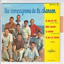 COMPAGNONS CHANSON Vinyle 45T EP LE BLEU ETE Film Alamo -COLUMBIA 1297 Languette
