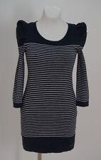 Cotton Blend Crew Neck 3/4 Sleeve Tunic Dresses for Women