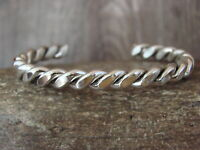 Navajo Indian Jewelry Sterling Silver Bracelet by Elaine Tahe!
