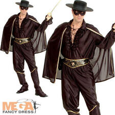 Spanish Bandit Mens Fancy Dress Mexican Hero Zorro Adults Halloween Costume
