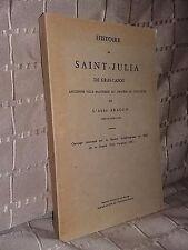 Histoire de Saint-Julia de Gras-Capou par l'abbé Aragon diocèse de Toulouse