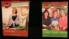 Food Network 2 3 Disc Sets DVDs Robin Miller & Holiday Best Moulton Deen Garten