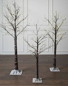 Christmas Twig Tree LED Pre Lit Snowy Tree Decoration 180cm (6ft) In/Outdoor