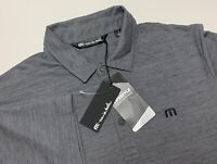 C49 NEW Travis Mathew Flying Tortilla Gray Black Heathered S/S Golf Polo Mens S