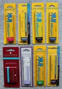 8 New Old Stock Sheaffer Skrip Ink Packs, 47 Cartridges, 8 Different Colors