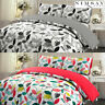 Soft Cosy 100% Brushed Cotton Flannel Floral Duvet Cover Pillowcase Bedding Set