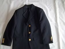 Boys CLAIBORNE Navy 15% Wool BLAZER JACKET Size 8 R Regular Dressy Suit Coat