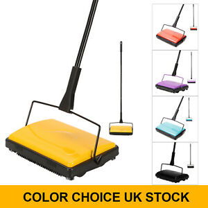 CLEANHOME MANUAL CARPET SWEEPER BRUSH CORDLESS RUG CLEANER DUSTER MULTICOLORS