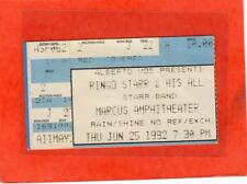 Ringo Starr & His All Star Band Marcus Amphitheater Used Ticket Stub 1992