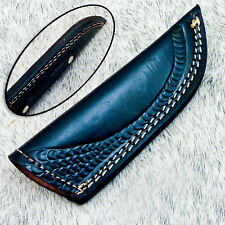 Leather Sheath For Fixed Blade Knife For 7.0 Inch Knife Black Leather WD-3032