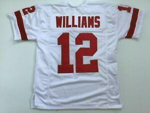 UNSIGNED CUSTOM Sewn Stitched Doug Williams White ERROR Jersey - M, L, XL, 2XL
