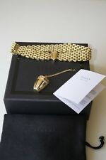 ELLERY GONER GOLD-PLATED CHOKER with REMOVABLE PENDANT  NEW BOXED £730