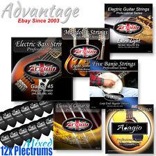 Adagio Acustica Electrica Bajo Guitarra Clásica Mandolina Banjo Cuerdas plectrums