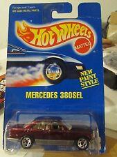 Hot Wheels Mercedes 380SEL #253 All Blue Card 5sp