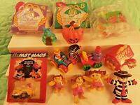 VINTAGE McDonald's Happy Meal Toys Lot of 14 (4 NIP) BIRDIE RONALD GRIMACE ETC
