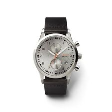 Gents Triwa Stirling  Watch Black Leather Strap Water Resistant New