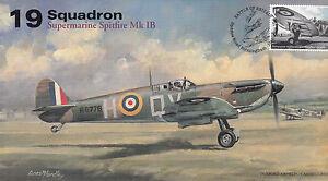 AV600 WWII 19 Squadron WW2 Supermarine Spitfire RAF Battle of Britain 2015 FDC