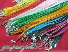 Lots of MIXED* 50pcs ribbon voile necklace cord 18""