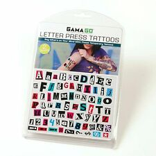 Gama-Go Letter Press Temporary Tattoos - Say What's on Your Mind