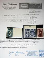 Lithuania Lituania 1939 429-31 B b52-54 3rd European baloncesto CS em Certificate