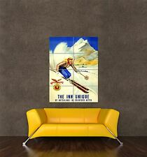 GIANT PRINT POSTER VINTAGE AD NOTCHLAND INN NEW HAMPSHIRE SPORT SKIING PDC198