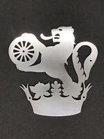 BR British Rail Lion Over Wheel Crest Steel Logo Plate Railwayana Polished Sign