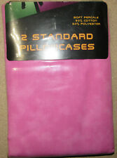 Two Standard Pillowcases - Pink