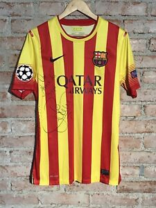 Barcelona 21 Adriano Signed Nike Champions League Away Size Medium Rare Match