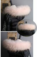 "Top Quality Real Pink Fox Fur Collar Hood Trimming Scarf  70*10cm/27.5X4""inch US"