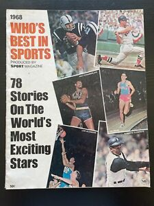 1968 Who's Best In Sports Magazine ~ Mantle + Wilt Chamberlain + Lew Alcindor