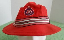 Vintage Derby Dri-n-Cool Cloth Hat Size 7-1/4 Bermuda Port Royal Golf Course Red