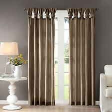 Madison Park Emilia 95-Inch Twist Tab Window Curtain Panel in Taupe