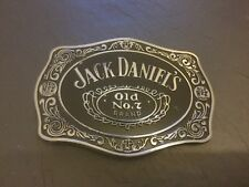 JACK DANIELS Large Black BELT BUCKLE New Metal Old No 7 Whiskey Whisky
