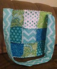 "Handmade Rag Quilt patchwork purse Hipster bag 11"" CUSTOM ORDER ONLY"