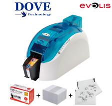 Evolis Dualys 3 Dual Sided Plastic ID Card Printer USB + Network. (Ocean Blue).