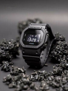 NEW G-SHOCK Men's Watch Military Black Resin Strap Digital Watch DW5600BB-1