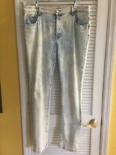 DG2 By Diane Gilman Jean Stretch Light Wash Tie Dye SZ 14T